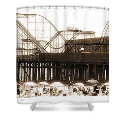 Coaster Ride Shower Curtain by John Rizzuto