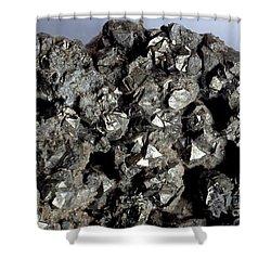 Cobaltine Mineral Shower Curtain by Spl