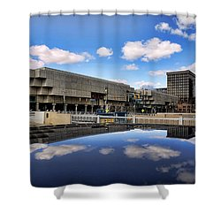 Cobo Hall Detroit Michigan Shower Curtain by Gordon Dean II