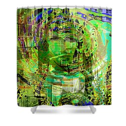 Cobwebs Of The Mind Shower Curtain by Seth Weaver