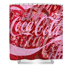 Coca-cola Collage Shower Curtain by Tony Rubino