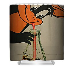 Coca Cola Orioles Sign Shower Curtain by Stephen Stookey