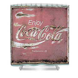 Coca Cola Pastel Grunge Sign Shower Curtain by John Stephens