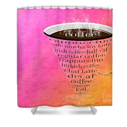 Coffee Cup The Jetsons Sorbet Shower Curtain by Andee Design