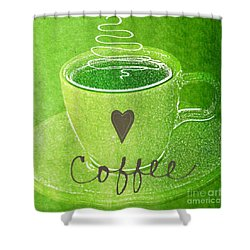 Coffee Shower Curtain by Linda Woods