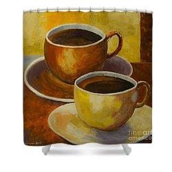 Coffee Time Shower Curtain by Veikko Suikkanen