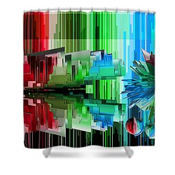 Cognitive Dissonance 3 Shower Curtain by Angelina Vick
