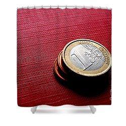 Coins Euro Shower Curtain by Michal Bednarek