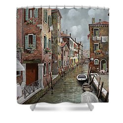 colazione a Venezia Shower Curtain by Guido Borelli