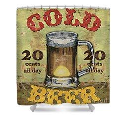 Cold Beer Shower Curtain by Debbie DeWitt