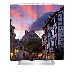 Colmar Twilight Shower Curtain by Brian Jannsen