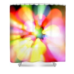 Color Explosion Shower Curtain by Les Cunliffe