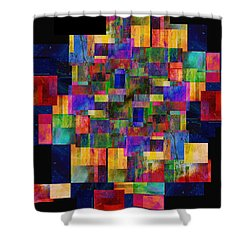 Color Fantasy - Abstract - Art Shower Curtain by Ann Powell