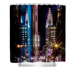 Color Of Manhattan Shower Curtain by Az Jackson