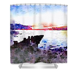 Color The Dawn Shower Curtain by Edward Kreis
