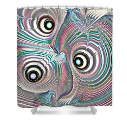 Color Waves Shower Curtain by Anastasiya Malakhova