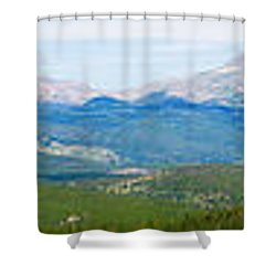 Colorado Continental Divide Panorama Hdr Shower Curtain by James BO  Insogna