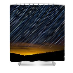 Colorado Mountain Startrails Shower Curtain by Benjamin Reed