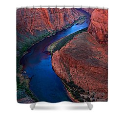 Colorado River Bend Shower Curtain by Inge Johnsson