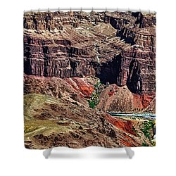 Colorado River In The Grand Canyon High Water Shower Curtain by Bob and Nadine Johnston
