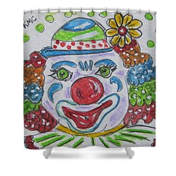 Colorful Clown Shower Curtain by Kathy Marrs Chandler