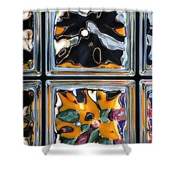 Colorful Contortion Shower Curtain by Frozen in Time Fine Art Photography