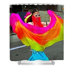Colorful Dance Shower Curtain by Ed Weidman