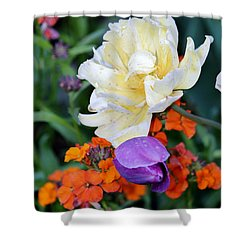 Colorful Flowers Shower Curtain by Cynthia Guinn