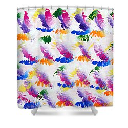 Colorful Kisses Shower Curtain by Andee Design