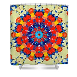 Colorful Mandala Shower Curtain by Ana Maria Edulescu