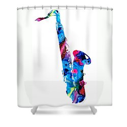 Colorful Saxophone 2 By Sharon Cummings Shower Curtain by Sharon Cummings