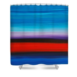 Colorful Shore - Abstract Art By Sharon Cummings Shower Curtain by Sharon Cummings