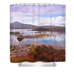 Colorful World Of Rannoch Moor. Scotland Shower Curtain by Jenny Rainbow