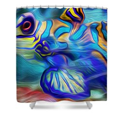 Colors Below Shower Curtain by Jack Zulli