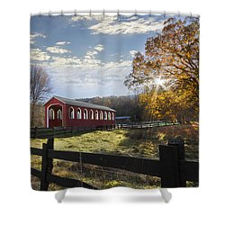 Colors Of Autumn Shower Curtain by Debra and Dave Vanderlaan