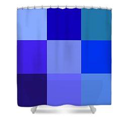 Colors Of Blue Shower Curtain by Karon Melillo DeVega