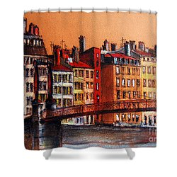 Colors Of Lyon I Shower Curtain by Mona Edulesco