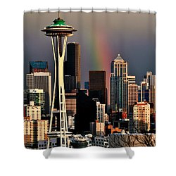 Colors Of Seattle Shower Curtain by Benjamin Yeager