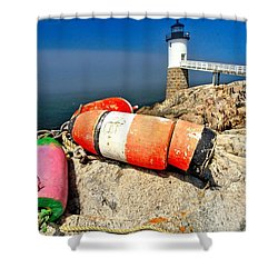 Colors On The Rocks Shower Curtain by Adam Jewell