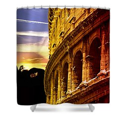 Colosseum Sunset Shower Curtain by Stefano Senise