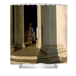 Columns Of A Memorial, Jefferson Shower Curtain by Panoramic Images