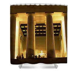Columns Surrounding A Memorial, Lincoln Shower Curtain by Panoramic Images