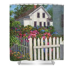 Come Into The Garden Shower Curtain by Susan Savad