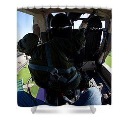 Coming In To Land Shower Curtain by Paul Job