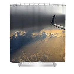 Coming Thru The Storm Shower Curtain by Bob Hislop