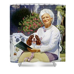 Companions In The Garden Shower Curtain by Candace Lovely