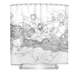 Complex Fluid A Novel Surfactancy Shower Curtain by Regina Valluzzi