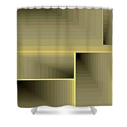 Composition 70 Shower Curtain by Terry Reynoldson