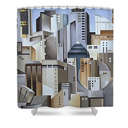 Composition Looking East Shower Curtain by Catherine Abel