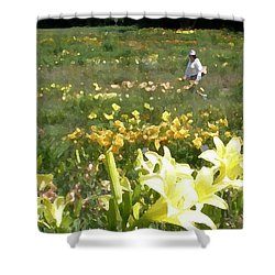 Consider The Lilies Of The Field Shower Curtain by Jean Hall